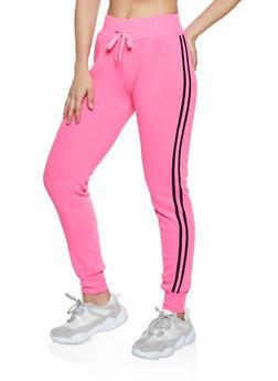 Varsity Stripe Fleece Lined Sweatpants - 3413072291967
