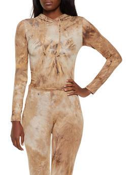 Soft Knit Tie Dye Hooded Top - 3413072292113