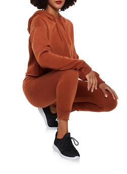 Raw Hem Fleece Lined Sweatshirt - 3413072292222