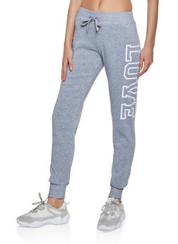 Love Fleece Lined Sweatpants - 3413072292699