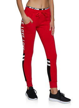 Love Elastic Band Joggers - 3413072292920