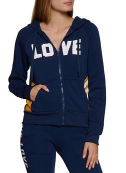Zip Up Love Hooded Sweatshirt - 3413072292921