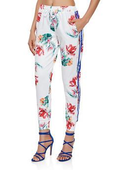 Floral Print Joggers - 3413072292922