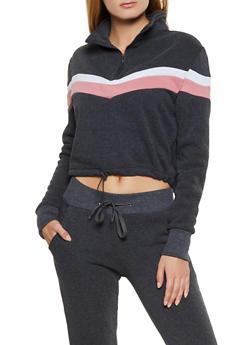 Half Zip Pullover Sweatshirt - 3413072293030