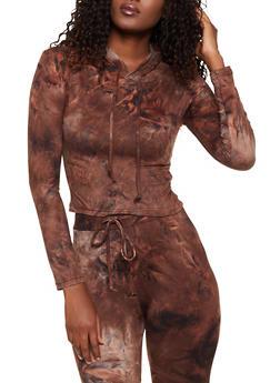 Tie Dye Hooded Top | 3413072293223 - 3413072293223