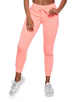 Fleece Lined Drawstring Joggers - 3413072293999