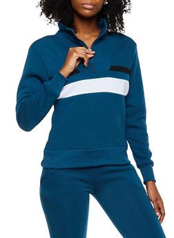 Pullover Half Zip Sweatshirt - 3413072295353