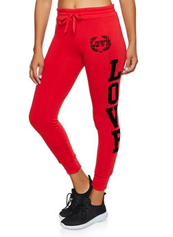Love Velvet Graphic Joggers - 3413072299628