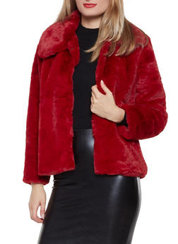 Faux Fur Collared Jacket - 3414054211037