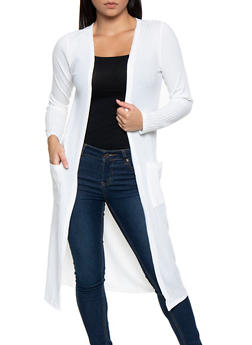 Ribbed Knit Duster   3414062702245 - 3414062702245