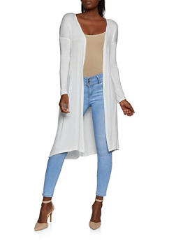 Solid Lightweight Duster - 3414062705682