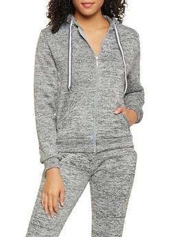 Fleece Lined Zip Up Sweatshirt - 3414063400207