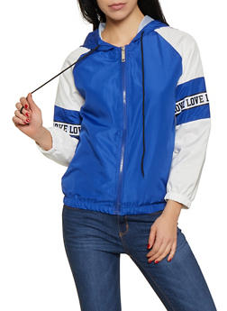Love Tape Windbreaker Jacket - 3414063401513