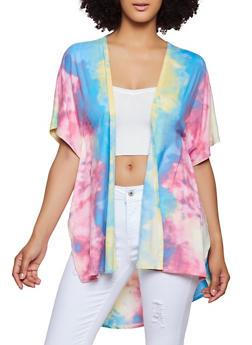 Tie Dye Soft Knit Kimono - 3414063406588