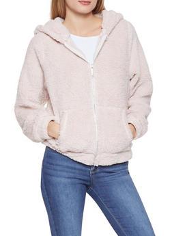 Faux Fur Hooded Sweatshirt - 3414063408030