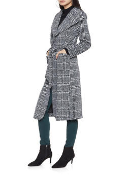 Plaid Belted Jacket - 3414068191880