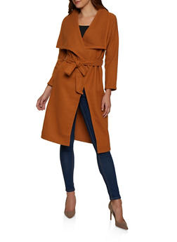 Belted Wrap Coat - 3414068193460