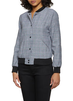 Plaid Bomber Jacket - 3414068198032