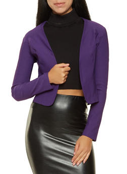 Open Front Stretch Blazer - 3414068513708