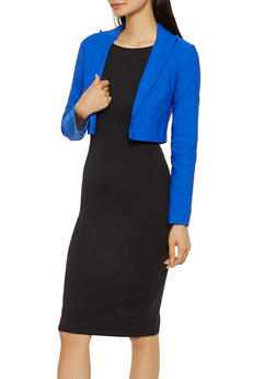 Solid Cropped Blazer - 3414068513737