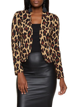 Cheetah Print Blazer - 3414068513838