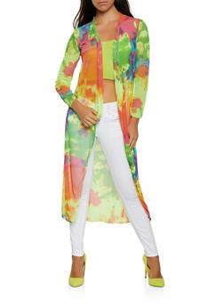 Tie Dye Mesh Duster - 3414068515227