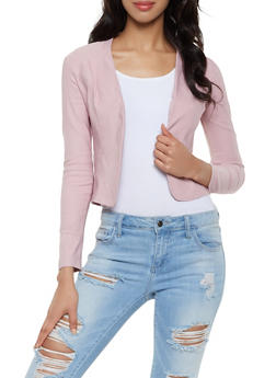 Stretch Open Front Blazer - 3414068517085