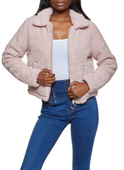 Zip Up Sherpa Jacket - 3414069392650