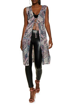Paisley Tie Waist Maxi Top - 3414069394855