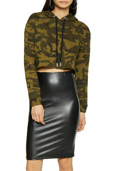 Cropped Camo Sweatshirt - 3416054211366