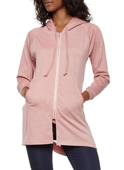 Slashed Back Hooded Sweatshirt - 3416062700080