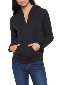 Fleece Lined Zip Up Sweatshirt - 3416062704036