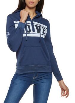Love Graphic Half Zip Sweatshirt - 3416062704037