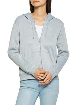 Fleece Lined Zip Front Sweatshirt - 3416062705036