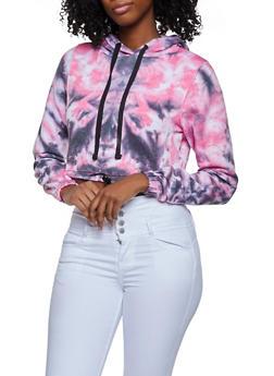 Tie Dye Cropped Sweatshirt - 3416063403854