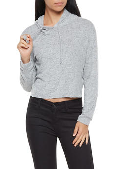Hooded Cropped Sweater - 3416066491196