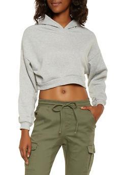 Cropped Hooded Sweatshirt - 3416066492981