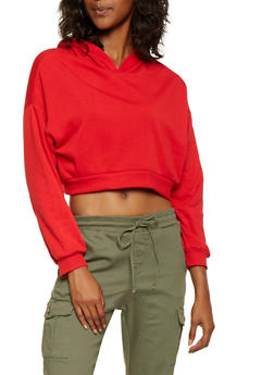 Cropped Hooded Sweatshirt - 3416066492981