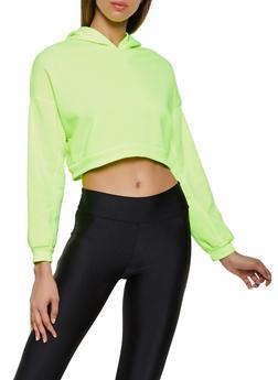 Fleece Lined Cropped Sweatshirt - 3416066493298
