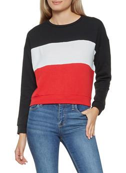 Color Block Sweatshirt - 3416066493410