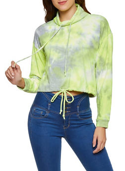 Tie Dye Drawstring Sweatshirt - 3416066494324