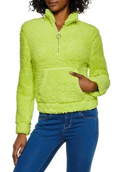 Sherpa Half Zip Sweatshirt - 3416068193400