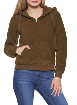 Sherpa Hooded Sweatshirt - 3416069392630