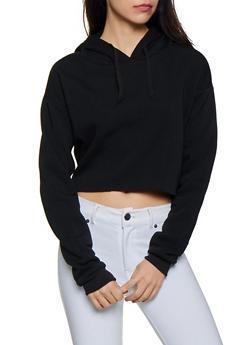Oversized Raw Hem Sweatshirt - 3416072290010