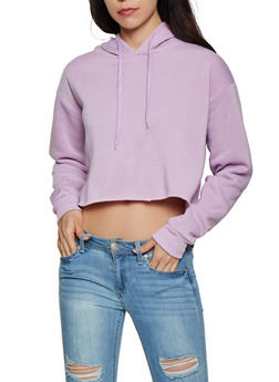 Oversized Raw Hem Sweatshirt - 3416072290010