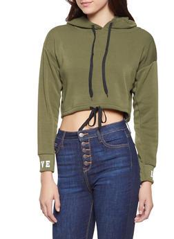 Graphic Trim Cropped Sweatshirt - 3416072290104