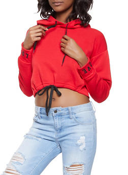 Graphic Trim Cropped Sweatshirt - 3416072290104