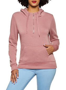 Hooded Half Zip Sweatshirt - 3416072292132