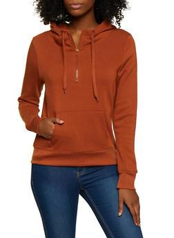 Hooded Half Zip Sweatshirt - 3416072292132