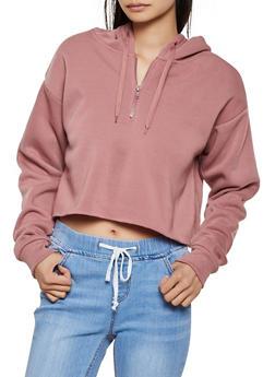 Cropped Raw Hem Sweatshirt - 3416072292988